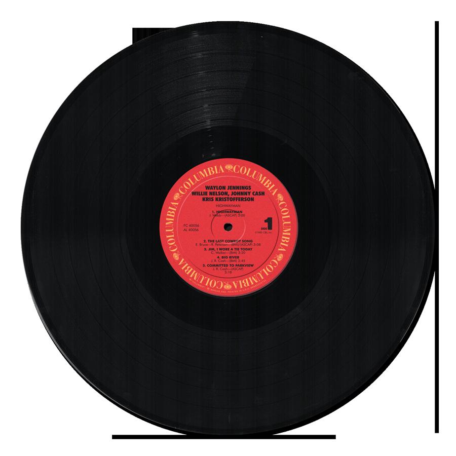 Image of the black vinyl record