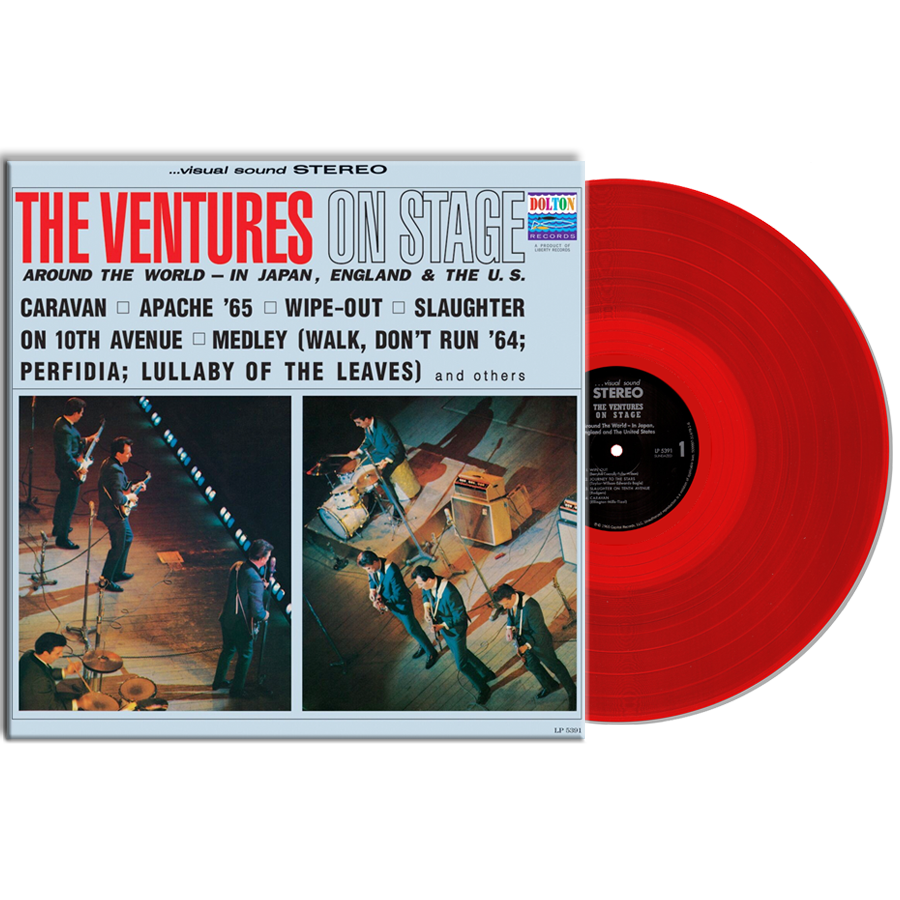 Ventures, The - The Ventures On Stage LIMITED EDITION Colored Vinyl LP