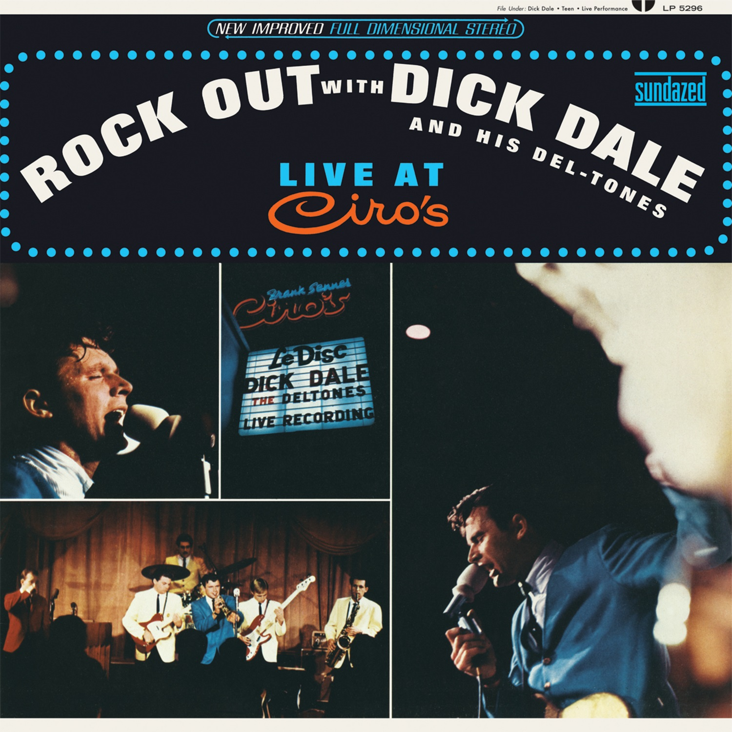 Dick Dale and His Del-Tones - Rock Out with Dick Dale and His Del-Tones (Live at Ciros) LP