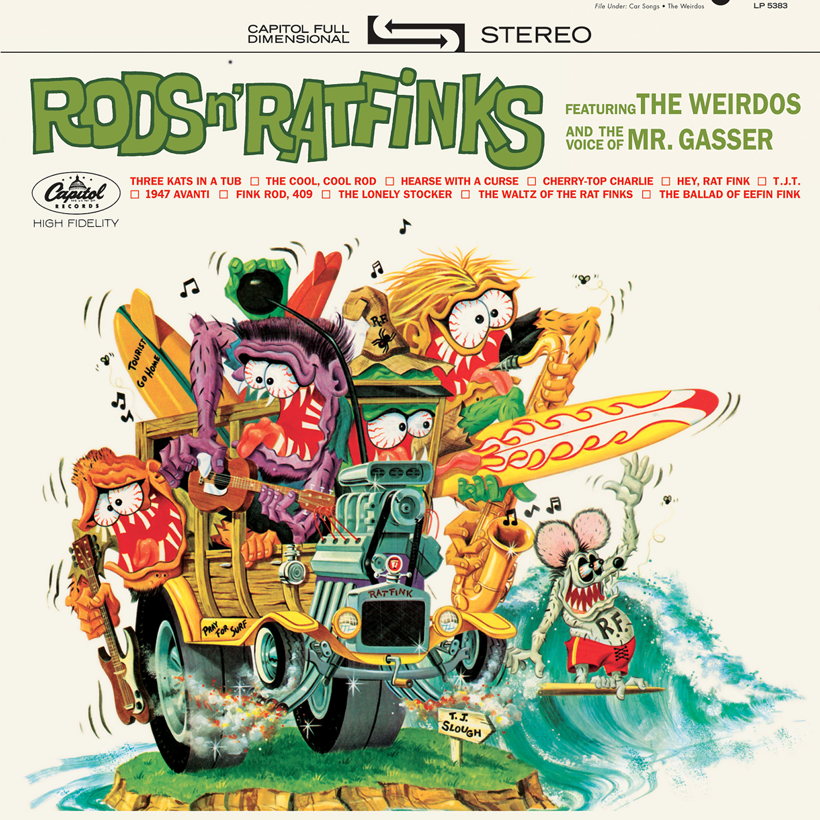 Mr. Gasser & the Weirdos - Rods n Ratfinks CD -BLACK FRIDAY- Limited Edition