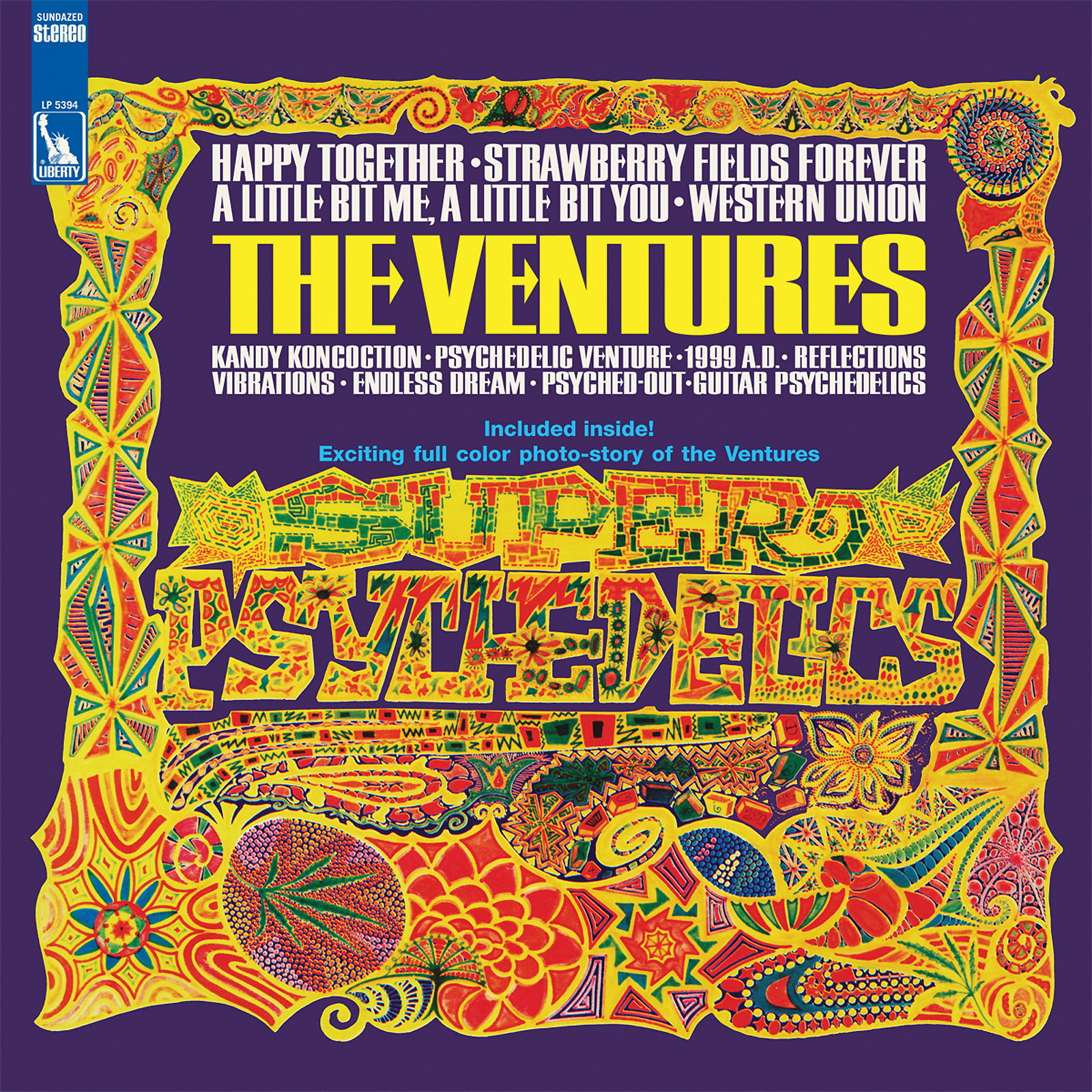 Ventures, The - Super Psychedelics LIMITED EDITION Colored Vinyl LP