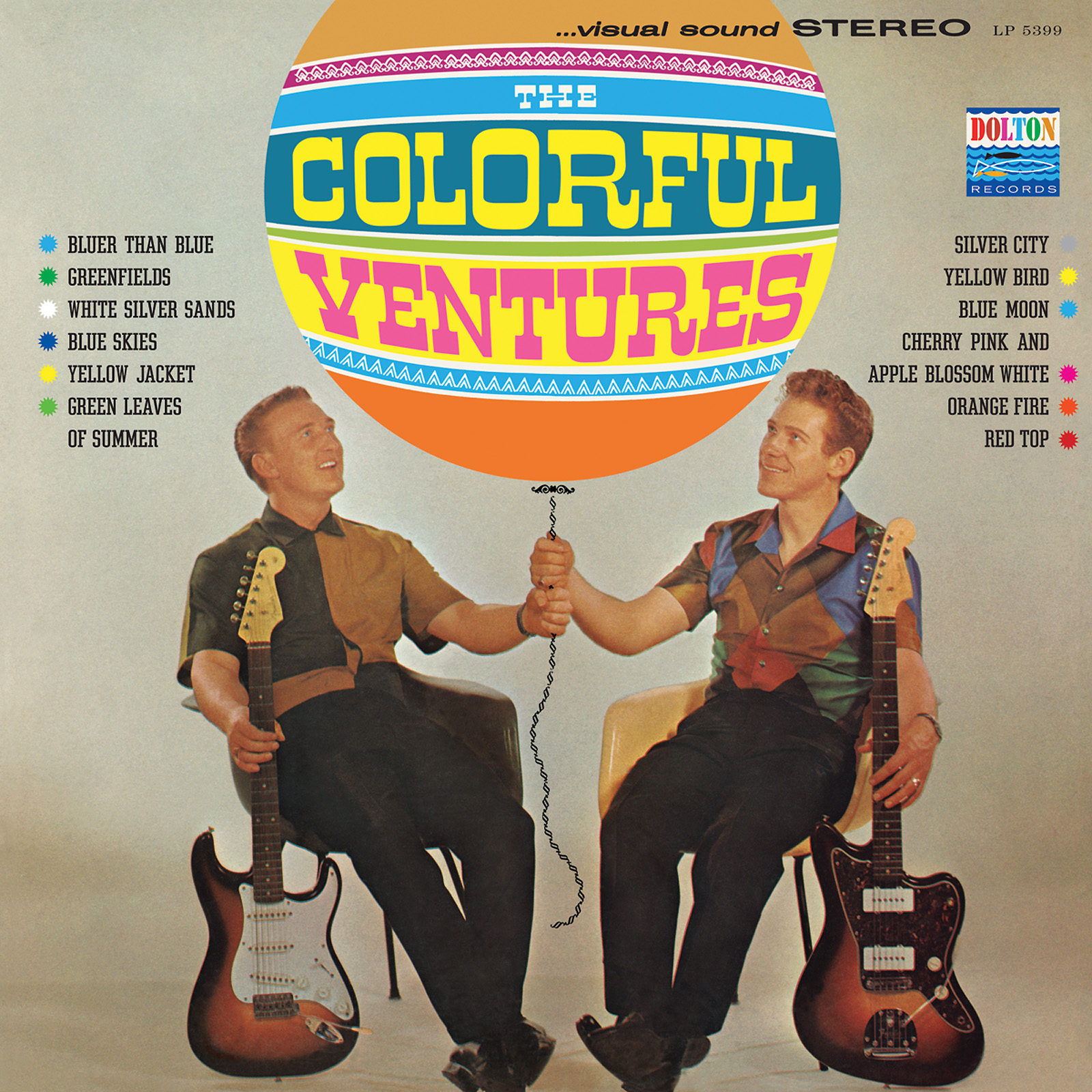 Ventures, The - The Colorful Ventures LIMITED EDITION Colored Vinyl LP