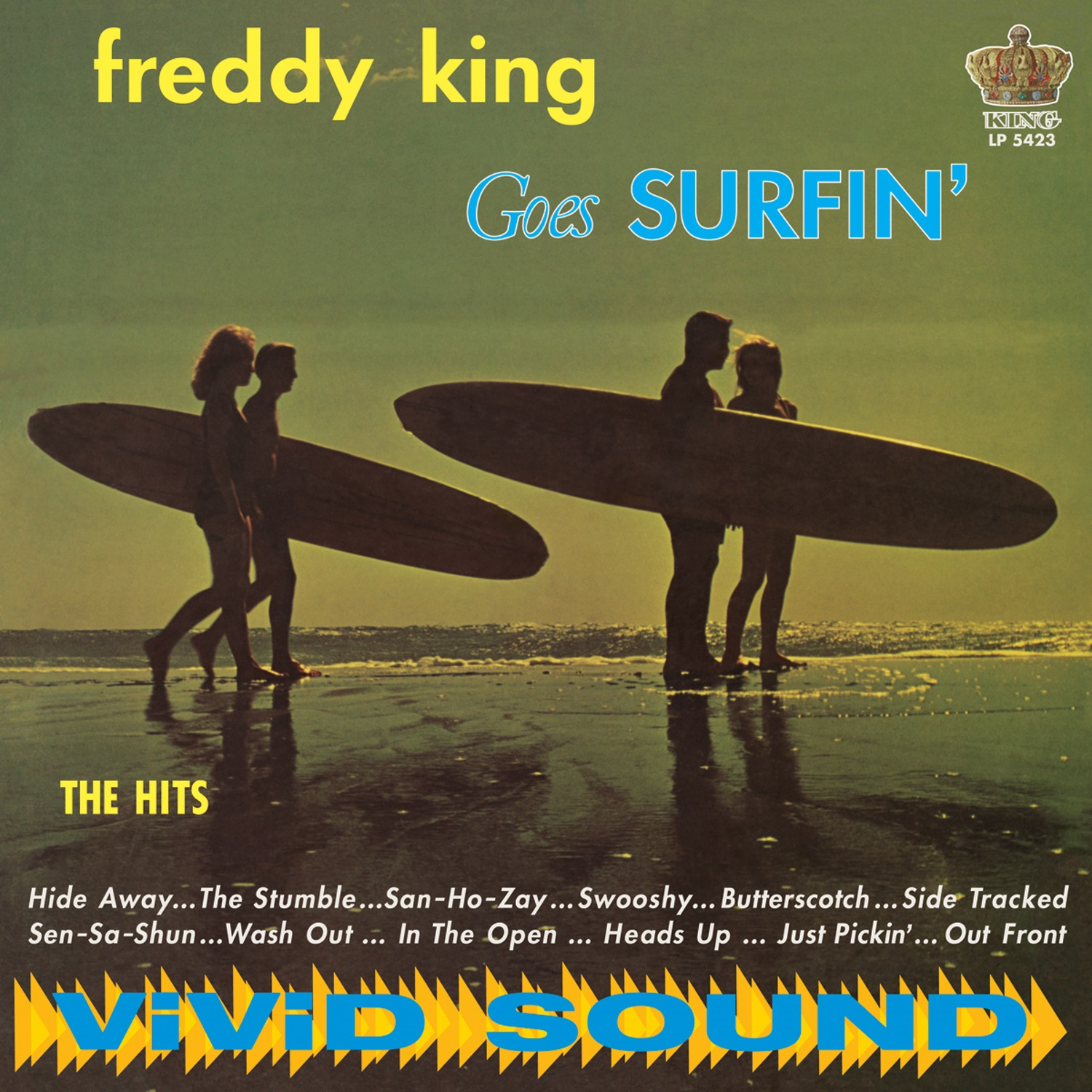 King, Freddy (Freddie) - Freddy King Goes Surfin' LP