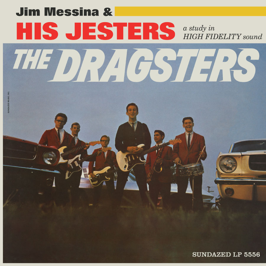 Jim Messina & His Jesters - The Dragsters - Blue Vinyl LP - LP-SUND-5556