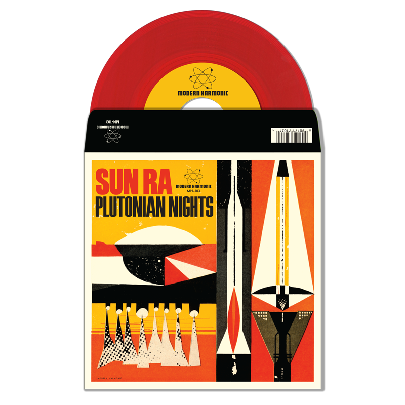 "Sun Ra - Plutonian Nights / Reflects Motion Pt. 1 - 7"" Single"