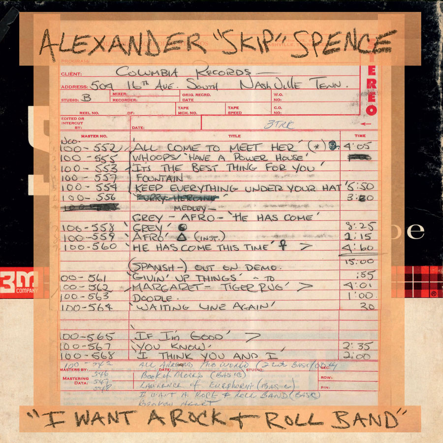 "Spence, Alexander 'Skip' - I Want A Rock & Roll Band / I Got A Lot To Say / Mary Jane - 7"" Single"