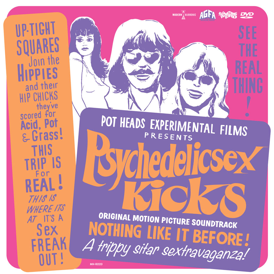 Psychedelic Sex Kicks - Original Motion Picture Soundtrack - LP + DVD - LP-MH-8223