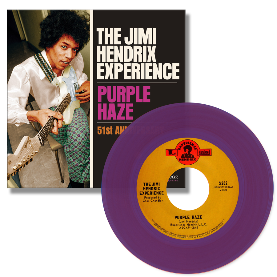 Jimi Hendrix Purple Haze Purple Vinyl Product Image