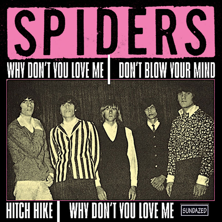 "Spiders, The - Why Dont You Love Me / Hitch Hike / Dont Blow Your Mind / Why Dont You Love Me (instr.)  7"" EP"