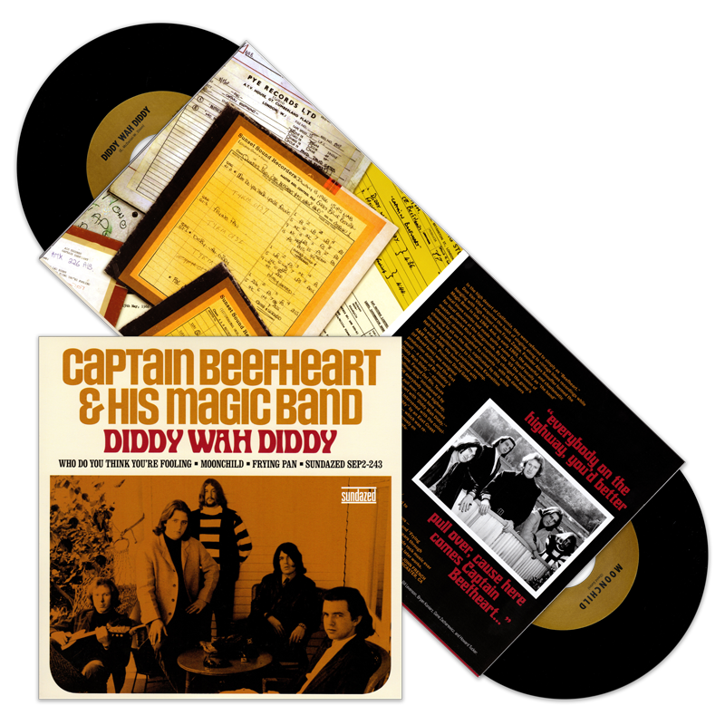 "Captain Beefheart and His Magic Band - Diddy Wah Diddy / Who Do You Think You're Fooling / Moonchild / Frying Pan - Double 7"" - S2-243"