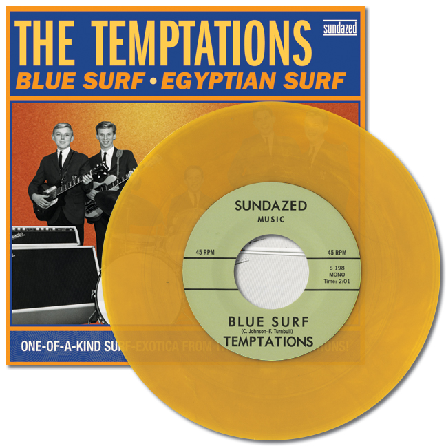 "Temptations, The - Blue Surf / Egyptian Surf LIMITED EDITION COLORED VINYL 7"" Single"