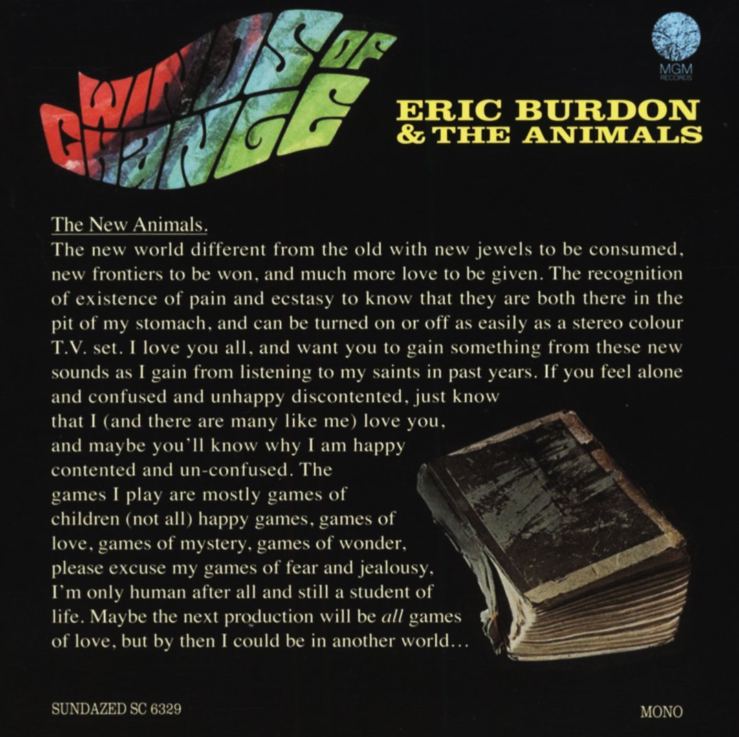 Eric Burdon & The Animals - Winds Of Change - CD